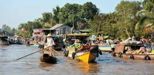 Drijvende markt Mekong Delta Vietnam