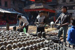 Nepal Bhaktapur Pottery Square