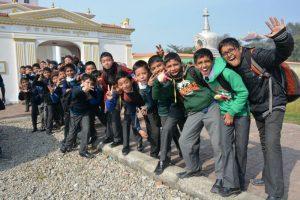 Nepal Lumbini schoolkinderen
