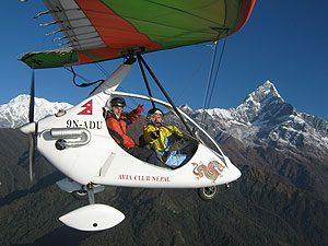 Nepal Pokhara Deltavliegen